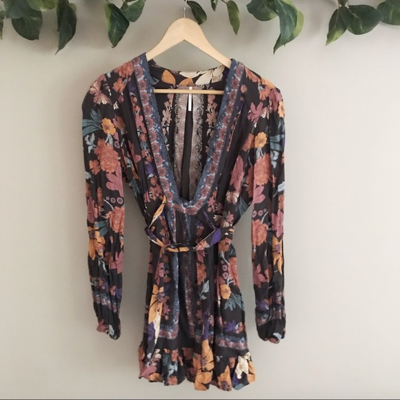 Free People Dresses & Skirts - Free People • Floral Long Sleeve Embroidered Dress